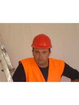 Κράνος Προστασίας Ασφάλειας Εργαζομένων Κόκκινο